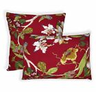 ai03a Lt.Blue Green Pink Yellow Cream Red Lily Cotton Fabric Cushion Cover Size