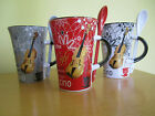 VIOLIN DESIGN COFFEE MUG with matching spoon - Ideal Gift