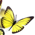 3D Butterflies - Lemon Yellow -  Weddings, Invitations, Cards, Cakes, Toppers