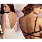 Woman's V Backless Low Back Bra Strap Converter Extender for party/Formal dress