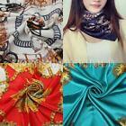 Lady Fashion Large Square Scarf Silk Head Wrap Kerchief Neck Satin Shawl Bandana
