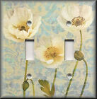 Switch Plates And Outlets - Ivory Poppy Flowers - Floral Home Decor - Decorative