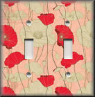 Switch Plates And Outlets - Poppies On Pink - Floral Home Decor - Poppy Flower