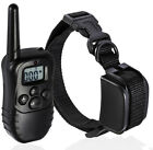 Pet Dog Training Collar Rechargeable Electric LCD 100LV Shock (One Collar)