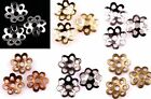 500 Pcs 6 colors Nice Tone Metal Flower Shaped Bead Caps 6mm