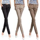 Womens Straight Leg Trousers Ladies Cargos slacks Bootcut vintage office Pants