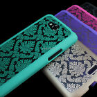 For LG Optimus L70 MS323 Damask Vintage Pattern Rubberized Matte Hard Case Cover