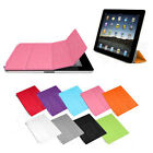 New PU Leather Magnetic Slim Smart Front Cover Case Stand For iPad 2 iPad 3 3rd