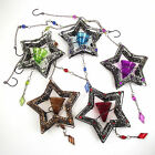 88cm Long Dangling Star Shape Moroccan Stained Glass Candle Holder