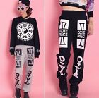 Punk GOTHIC PERSONALITY TOTEM  RETRO CASUAL PANTS