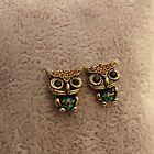 New Jewelry Lady Fashion Style Owl Rhinestone Cute Vintage Ear Stud Earrings