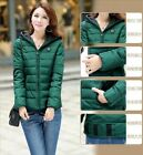 Fashion New Slim Down padded jacket women short down padded coat overcoat