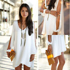 Chic Women Loose Summer Casual Cut out Party Evening Cocktail Short Mini Dress