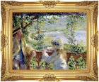Framed By the Lake Pierre Auguste Renoir Painting Reproduction Canvas Fine Art