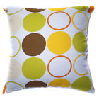 AL12a Yellow Square Circle Cotton Canvas Cushion Cover/Pillow Case *Custom Size*