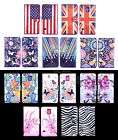 For Sony Phones Colored Painting Sweet PU Leather Cash Wallet Cases Covers Stand