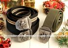 Cool Skull Army Stainless Steel Buckle Military Webbing Canvas Belt Waistband EE