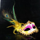 Christmas masquerade Magic mask Venetian lady peacock feather home decor  TBUS