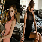 New Womens pink lace graceful off shoulder sleeve fitting cocktail dress ODUSSL#