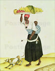 Poster / Leinwandbild A Woman Carrying a Tray of Fruit on her Head - C. Juliao