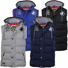 Mens Gilet Bodywarmer Hoodie Jacket Santa Monica 'Tipple' Ripstop Fabric Padded