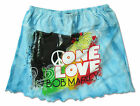 BOB MARLEY PEACE SIGN SWIRLS BLUE TIE DYE  INFANT BABY TODDLER SKIRT DRESS NEW