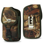 Holster Pouch With Metal Belt Clip For iPhone 4/4s/5/5s/5c Bumper Case On it
