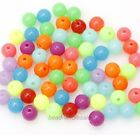 100 Pcs Hot 8mm Mixed Acrylic Plastic DIY Finding Round Ball Loose Spacer Beads