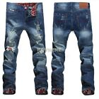 Leg jeans Denim Trousers Mens Pants New Biker Skinny Sexy Summer Spring K0E1