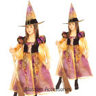 CK256 Long Elegant Witch Girl Book Week Party Halloween Fancy Dress Costume