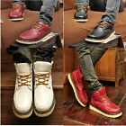British Cool mens high/Low top Lace Up Flats Casual Work Military Ankle Boots