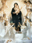 Virgin with Angels Bouguereau Virgin Mary Baby Jesus Christian Canvas Art Repro