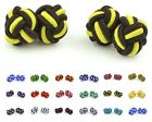 New Mens Silk Knot Twist Handmade Fashionable Colorful Unique Vintage Cufflinks