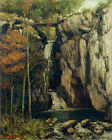 Poster / Leinwandbild The Chasm at Conches - Gustave Courbet