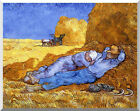 Art Print Noon Rest from Work Vincent van Gogh Stretched Painting Reproduction