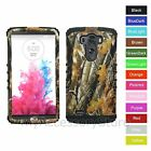 For LG G3 Camo Camouflage Hard & Rubber Hybrid Rugged Impact Phone Case Cover