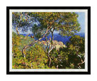 Claude Monet Bordighera Seascape Framed Art Painting Reproduction Canvas Print