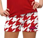 2013 LoudMouth Ladies Golf Mini Shorts Brand New Team Arkansas Razorbacks