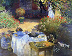 Le Dejeuner Claude Monet Prints on Canvas Giclee Wall Art Painting Reproduction