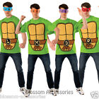 CL7 Teenage Mutant Ninja Turtles TMNT Leonardo Raphael Adult Costume T-Shirt Kit
