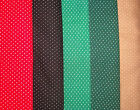 ASSORTED   SMALL POLKA DOTTED  COTTON FABRIC  SOLD BY FQ