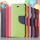 For iPhone 6 4.7 Plus 5.5 Hybrid PU Leather Flip Folio Wallet Pouch Case w/Stand
