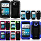 T Stand Armor Hybrid Cover Case for AT&T ZTE Radiant Z740 Sonata 4G Phone