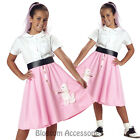 CK151 Poodle Skirt Pink Girls Child Book Week Halloween Fancy Dress Up Costume