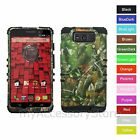 For Motorola Droid Maxx / Ultra Camo Mossy Leaf Hybrid Rugged Impact Case Cover