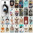Colorful Animals Skull Painted Case Cover Skin Hard for Samsung Galaxy S3 S4 S5