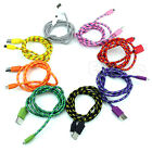 1M 2M 3M  Micro V8 USB Durable Braid Cable For Samsung Galaxy S3 S4 HTC Sony