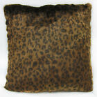 Fi862a Black Gold Brown Leopard Faux Fur Cushion Cover/Pillow Case Custom Size