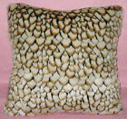 fp841a Black Light Brown Almond Stone Soft Faux Fur Cushion Cover/Pillow Case