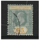 Malaya Straits Settlements - 1908, $5 (Chalk Surfaced Paper) - Used - SG 138a